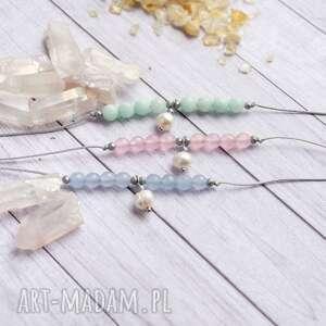 ręcznie robione dla młodej mamy - jadeit i perła