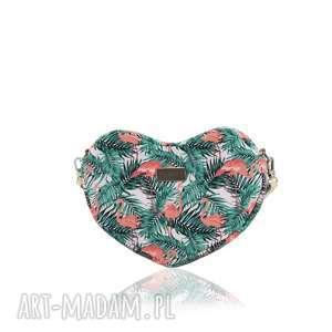 TOREBKA LOVKA 1153 , mini, serce, flamingi, lato