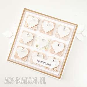 kartka z życzeniami - serca - okolicznościowa, życzenia, ślubna