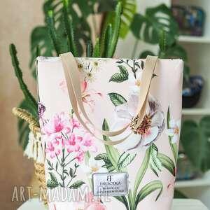 pod choinkę prezent, torebka shopperka 4022, shopperka, kwiatowa, zakupowa