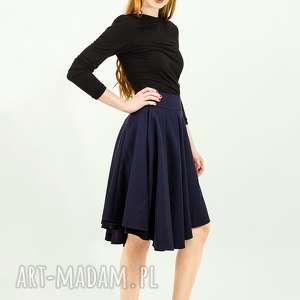 Wełniana spódnica z koła zakładkami talia 73 cm wyprzedaż:), welniana, minimalizm