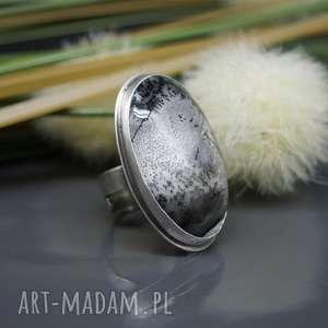 agat dendrytowy - srebrny pierścionek coco