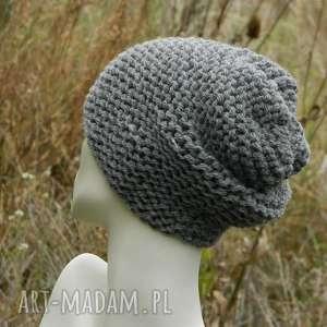 czapki stalowa na prawo grubaśna zimowa czapa, gruba, dziergana