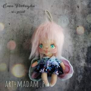 aniołek - zawieszka, lalka kolekcjonerska, aniołek, elf, ręcznie malowany