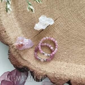 pierścionek z turmalinem i kwarcem - cherry blossom
