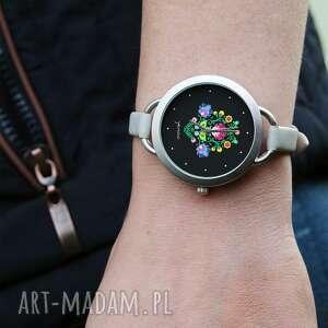 handmade zegarki zegarek - folkowy, czarny