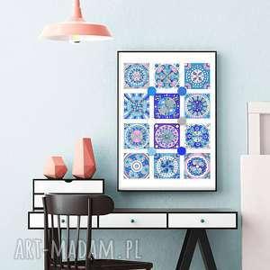 malgorzata domanska mozaika a1, plakat, plakaty, mozaika, grafika, turkus