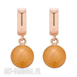 ręcznie wykonane kolczyki kolczyki ze złotą żywicą z różowego złota