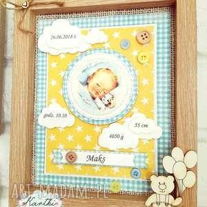 Prezent Metryczka Spersonalizowana, metryczka, obrazek, dziecko, niemowlę, prezent