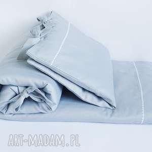 Pościel do łóżeczka rozmiar 90x120 szara pokoik dziecka dots and