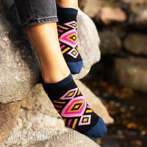 stopki boho black, boho, skarpetki, damskie, kolorowe, stopki, bawełniane