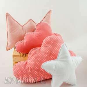 Zestaw 4 poduch skandynawski róż pokoik dziecka nunli poduszka