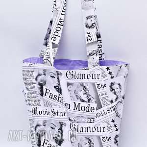 torba na zakupy shopperka marilyn monroe liliowa, torba, shopperka, marylin