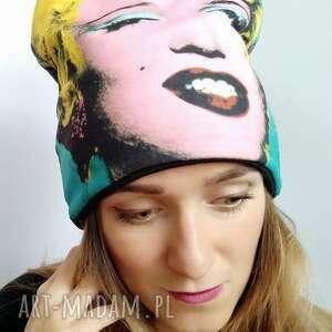 czapka warhol, kolorowa czapka, zimowa, andy pop art
