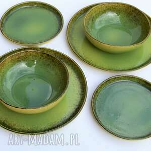 ceramika zestaw ceramiczny dla dwojga - talerz miseczka talerzyk