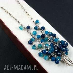 agat niebieski, agat, grona, unikalny prezent