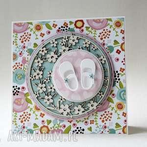 hand-made scrapbooking kartki chrzest dziewczynki