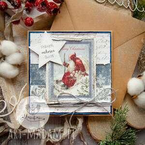 Upominki świąteczne. Magiczna kartka na święta bożego narodzenia