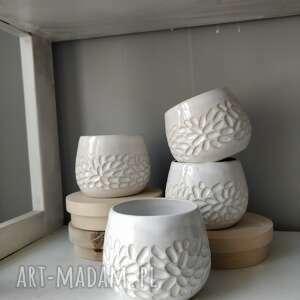 handmade ceramika zestaw czterech kubków