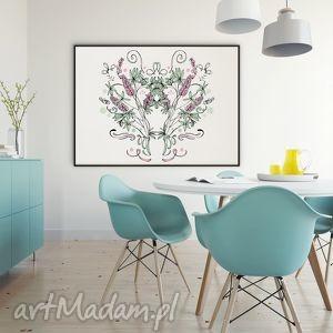 Kwiaty naszych łąk... łubin - 30x40 cm., plakat, łubin, kwiaty, obraz, folk