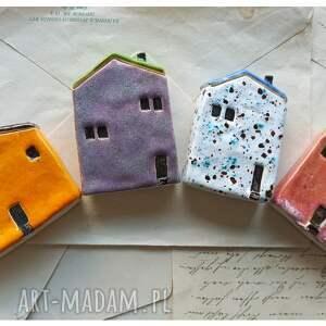 ceramika zestaw 4 domków, ceramika, domki