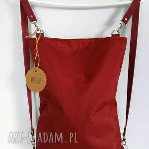 plecako torebka cordura bordowa, plecak, torba, torebka, cordura, minimalistyczna
