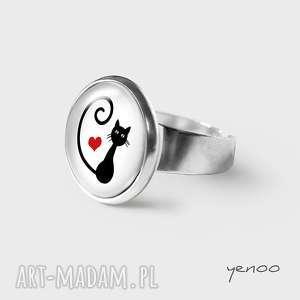pierścionek - kotek, serce