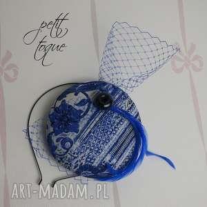 handmade ozdoby do włosów petit togue kobalt