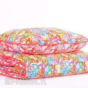 Prezent Pościel dziecięca z kołderką 110x125cm i poduszką 50x60cm KOTKI od majunto