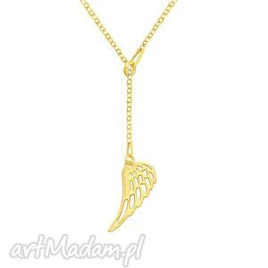 celebrate - wing necklace g, skrzydło, łańcuszek, celebrytka