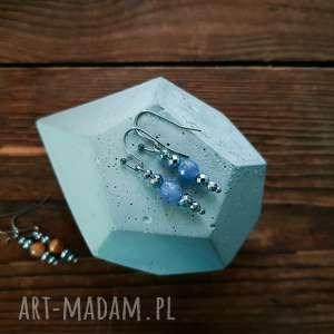 whw taste earrings anhydrite, kolczyki, delikatne, subtelne, kamienie, anhydryt