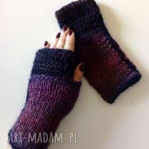 rękawiczki mitenki, rękawiczki, naprezent, nadrutach, wełniane