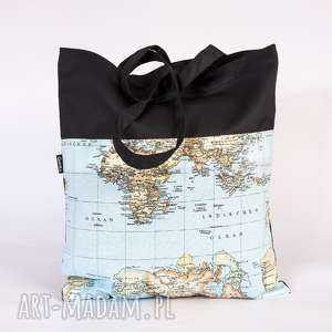 wyjątkowe prezenty, siatka z mapą, siatka, torba, mapa, świat
