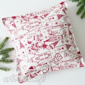 hand-made prezent pod choinkę świąteczne malunki