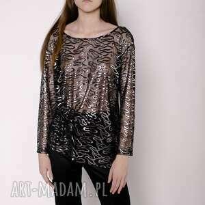 handmade bluzki bluzka srebrna
