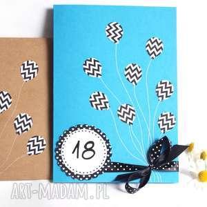 urodzinowa kartka xl 18-te urodziny blue, 18, osiemnastka, osiemnaste, osiemnastkę