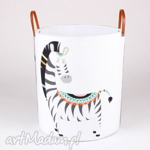 hand-made pokoik dziecka ogromny pojemnik z zebrą