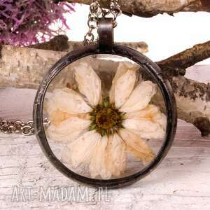 naszyjnik z suszonymi kwiatami terrarium 5,5cm tiffany 1104