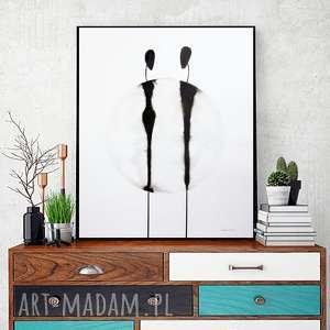 grafika 40x50 cm wykonana ręcznie, plakat, abstrakcja, elegancki minimalizm, obraz do salonu