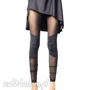 Legginsy z nakolannikami, legginsy, czarne, wyszczuplające