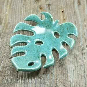 ręcznie zrobione ceramika mydelniczka monstera