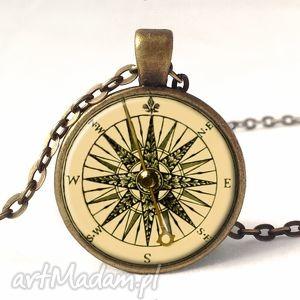 hand made naszyjniki kompas - medalion z łańcuszkiem