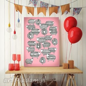 owieczki a3, owca, owieczki, plakat, obrazek, ilustracja pokoik dziecka