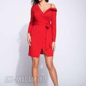 Sukienka kopertowa mini z długim rękawem sukienki bien fashion