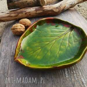 ceramika ceramiczny talerzyk liść c67, talerzyk, liść, ceramika, patera
