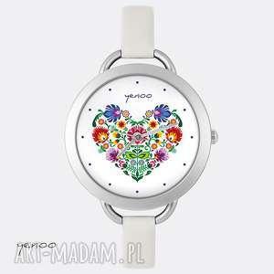 Prezent Zegarek, bransoletka - Folkowe serce, zegarek, bransoletka, folkowy, serce