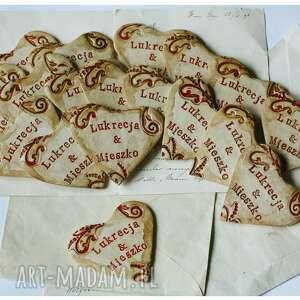 ceramika pierniki serca na magnes - podziękowania dla gości, ceramika, serce