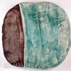 handmade ceramika patera ceramiczna - morska