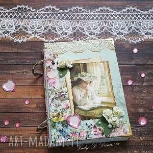 Retro pamiętnik opowiadania scrapbooking notesy damusia