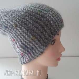 handmade czapki oryginalna, bardzo kobieca, zimowa czapka